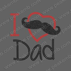 Wholesale I Love My Dad Iron On Rhinestone Transfer Glitter 30 Pcs/Lot Custom Hot Sale Rhinestone Football Grandma Heat Transfers Wholesale