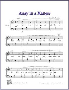 Away in a Manger | Free Sheet Music for Easy Piano by wavemusicstudio, via Flickr