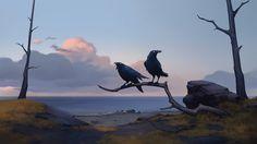 ArtStation - Huginn & Muninn, Clan of the Raven - NORTHGARD, Jeremy Vitry