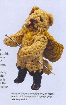 Carl Horn - Hertwig - Crocheted Puss in Boots