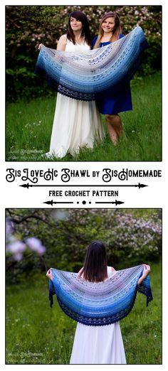 From SisHomemade Crochet Shawl, Free Crochet, Knit Crochet, Half Circle, Ravelry, Crochet Patterns, Knitting, Instagram, Ideas
