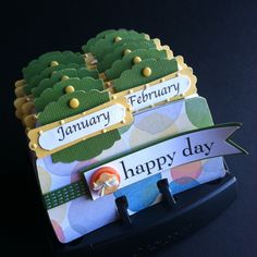 rolodex perpetual calendar ~~~Also used as filing system for photo info,or organizational tool. ~~~~sb