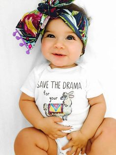 Save the drama for my llama Onesie® funny baby clothes boho