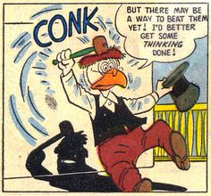 "Ratchet Gearloose's study habits | From ""The Great Steamboat Race"" (1955) by Carl Barks"