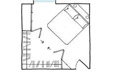 modern Minimalist Walk-in Closet Innovative Design, Cabina Armadio by Porro Home Bedroom, Modern Bedroom, Bedrooms, Interior Barn Door Hardware, Wardrobe Room, Floor Plan Layout, Walk In Closet, Little Houses, Cozy House