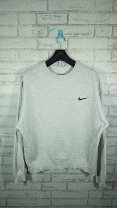 1ece6a7055d5 Items similar to Vintage Nike Swoosh Gray Sweatshirt Size XLarge   Nike  Sweater   Nike Sweatshirt   on Etsy
