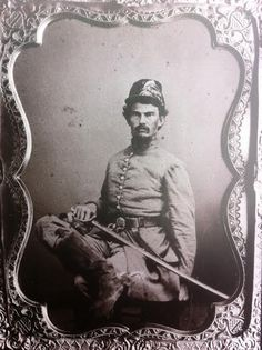 """Adjutant Edward Dickson Hicks II, Company A, """"The Tennessee Rangers"""" 1st Battalion (McNairy's) Tennessee Cavalry. The Battalion was consolidated with other commands to form the 22nd (Barteau's) 22nd Tennessee Cavalry Regiment. They did good service under Gen. N.B. Forrest."""