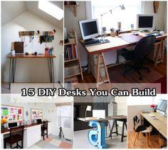 DIY Desks You Can Build Yourself