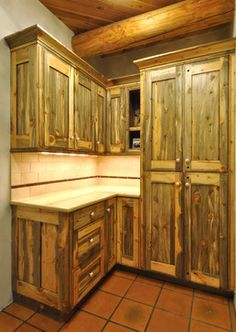Beetle Wood Kitchen Cabinets Colorado Kill Pine Rustic
