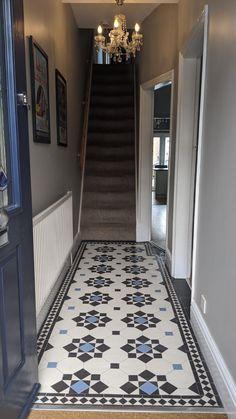 Victorian Flooring, Victorian Tiles, Antique Tiles, Victorian House, Hall Tiles, Tiled Hallway, Georgian Townhouse, Georgian Homes, Minton Tiles