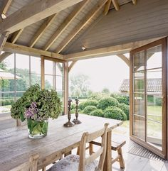 Retro County House in Belgium – Adorable Home Outdoor Rooms, Indoor Outdoor, Outdoor Living, Breathing Fire, Home Designer, Porch Veranda, Colored Ceiling, Ceiling Color, My Dream Home