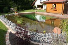 Schwimmteich bei Bielefeld - Mielke's Schwimmteiche - Spezialist für Zier-, Natur- und Badeteiche