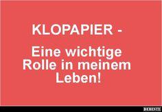 KLOPAPIER.. | Lustige Bilder, Sprüche, Witze, echt lustig