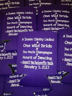 Lot 100 personalized bachelorette party by odysseycustomdesigns, $84.99