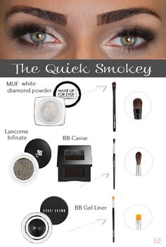 The Quick Smokey: eye tutorial @ kissablecomplexions.com