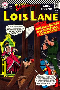 Lois Lane 67 comic cover. Off with his head!