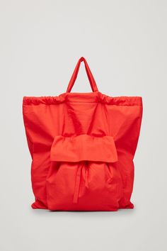 COS image 5 of Gathered tote bag  in Red