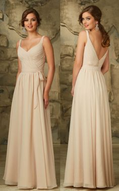 cfdef49830b0 Romantically Draped Luxe Chiffon Morilee Bridesmaid Dress with V-Neck and  V-Back