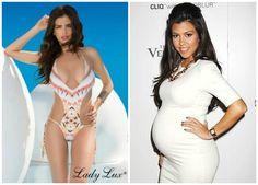 Kourtney Kardashian in Tribal Temptation Monokini! http://www.ladyluxswimwear.com/blog/years-monokinis-perfect-silhouette/