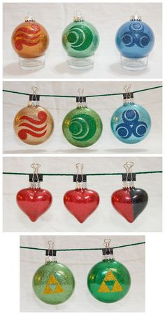 Zelda Ornaments by cutekick.deviantart.com on @deviantART