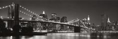 Brooklyn Bridge and Manhattan Skyline Art Print at AllPosters.com
