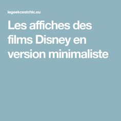 Les affiches des films Disney en version minimaliste Films Disney, Miyazaki, Bullet Journal, Minimalist, Hayao Miyazaki