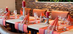 Festliche Tischdekoration für die Hochzeit - Amira Mandarin
