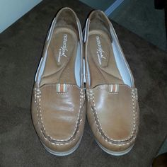 Shoes Brown slip ons. Only worn once. Naturalizer Shoes Flats & Loafers