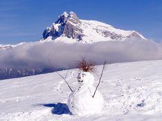 Vue sur Combloux avec le Mont Blanc