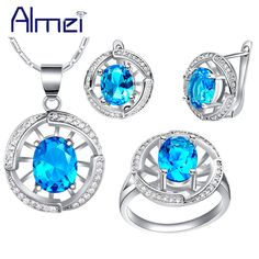 Find More Jewelry Sets Information about Almei 925 Silver Bijoux Red Blue Purple Pink Stone Rhinestone Necklace Earrings Ring Jewelry Sets for Women Wedding Bridal T448,High Quality set stationery,China set directions Suppliers, Cheap set massage from ULove Fashion Jewelry Store on Aliexpress.com