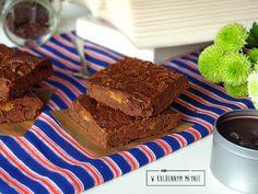 Czekoladowe ciasto z masłem orzechowym
