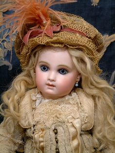 "Rarest of the Rare 17"" Early Almond-Eyed Portrait Jumeau Antique Doll All Original Dress WOW!"