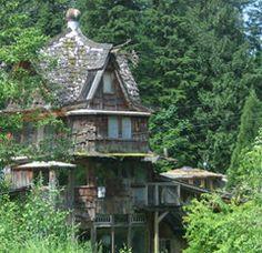 Arquitectura de libro de cuentos en las costas de la isla de Vancouver, Canadá