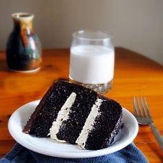 Salted Caramel Chocolate Fudge Cake. dairy free.