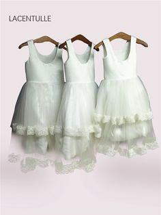 3f3600eb9 US $56.0 20% OFF|Scoop Neck Tea Length Tank Flower Girl Dress with Double  Tiered Skirt Holy First Communion Dress with Lace Trim-in Flower Girl  Dresses from ...