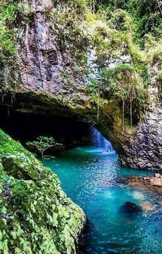 Natural Bridge ~ Queensland, Australia - I have jumped through this hole in the rock - it was terrifying/exhilarating & beautiful! Places Around The World, Oh The Places You'll Go, Places To Travel, Places To Visit, Around The Worlds, Vacation Places, Australia Map, Queensland Australia, Western Australia