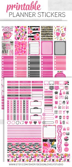 Mini Happy Planner Valentine's Day planner stickers kit