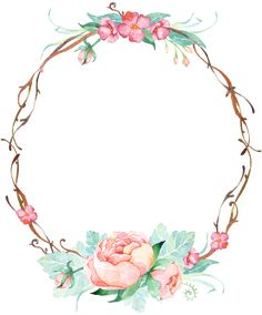 Ideas Flowers Roses Vintage Bridesmaid For 2019 Deco Floral, Motif Floral, Floral Border, Frame Floral, Flower Frame, Flower Backgrounds, Wallpaper Backgrounds, Diy And Crafts, Paper Crafts