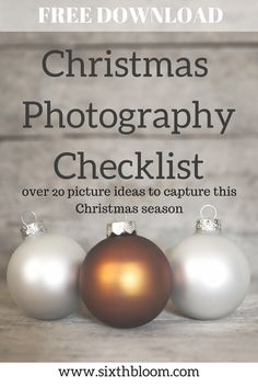 Christmas Photography Picture List