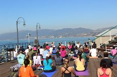 Yoga + running = roga. Come and get it at the Santa Monica Pier!