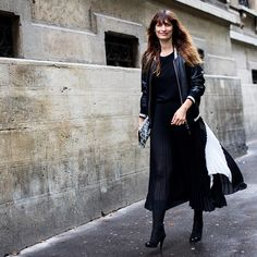 """@24sevres on Instagram: """"24 SÈVRES SQUAD // Spotted outside today's show, Caroline de Maigret wears a @proenzaschouler pleated skirt, available onsite now"""