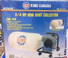 King Canada Tools KC-1101C 3/4 HP MINI DUST COLLECTOR Collecteur de Poussière