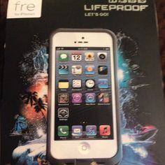 SOLD LifeProof case for iphone 5 Supports your phone under water New, but opened box Never used    (Gray & white color) LifeProof Accessories Phone Cases