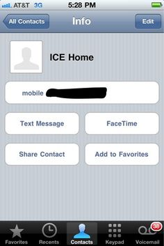 In Case of Emergency -  ICE tip for cell phones: in your contacts, label your home phone (or spouse's phone) with ICE (in case of emergency). Emergency personel are trained to look for this in situations where they need to contact someone if you aren't able.  It only takes a minute to add to your phone.