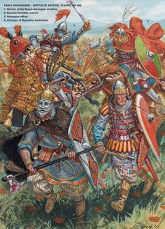 Early Varangians at the Battle of Abydos,13 April 989 A.D.