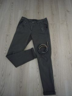 Pantalon Chino en Coton + Ceinture en Simili Cuir. de la boutique LetLUI  sur Etsy 8d1fac9a25c
