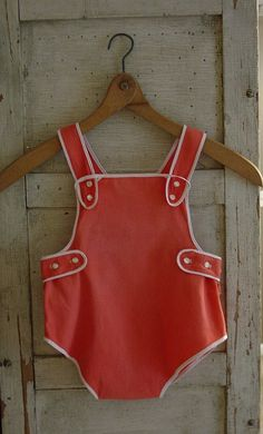 Vintage look sunsuit. Those were very sweet.