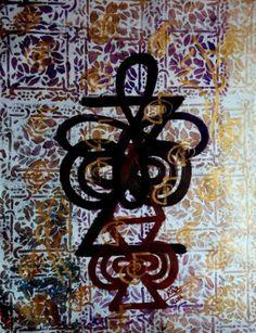 "Saatchi Art Artist Rizwana A Mundewadi; Painting, ""Untitled/ Healing in Brown"" #art"