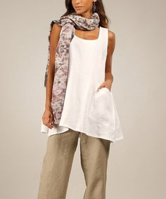 Love this White Nutella Linen Tunic by Eva Tralala on #zulily! #zulilyfinds