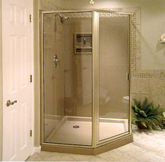One Piece Corner Shower Stall Units Bathroom & Toilet